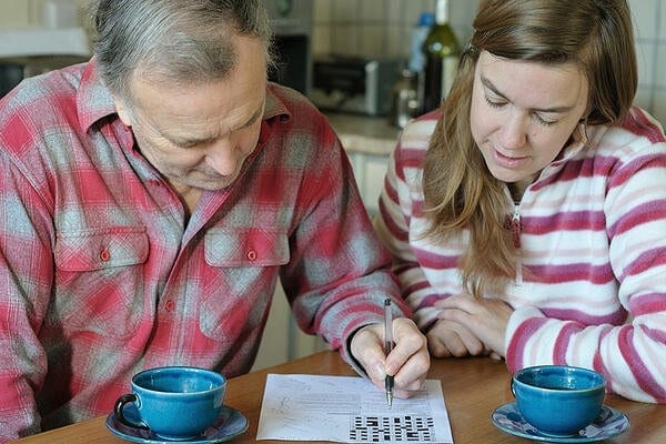 Older Man and Woman Crossword Puzzle