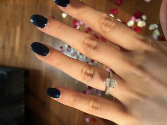 Woman Wearing a Wedding Ring