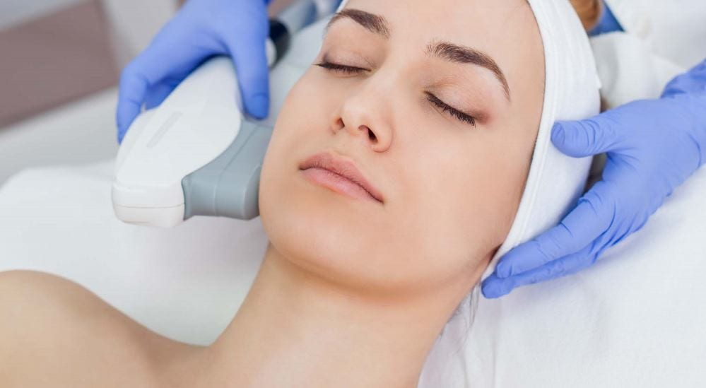 Woman Getting IPL treatment