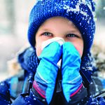 Child Blowing His Nose Winter