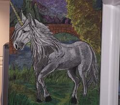 Unicorn Chalk Art Drawing